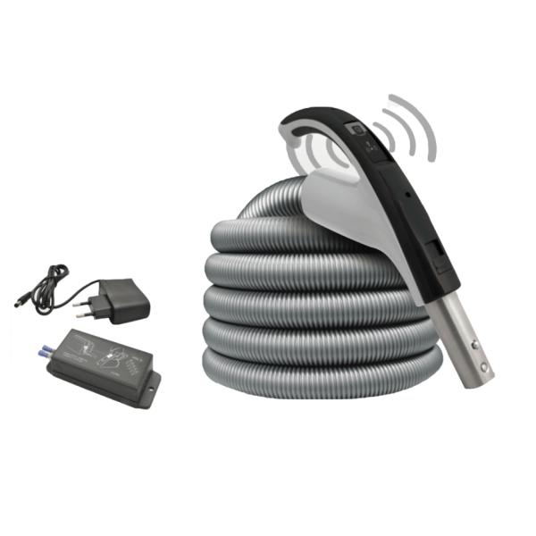 Tubo flessibile aspirapolvere centrale senza fili con ricevitore
